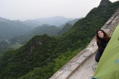Great Wall of China. Camping at the Wild Great Wall. Jiankou