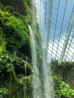 Balcony under the waterfall